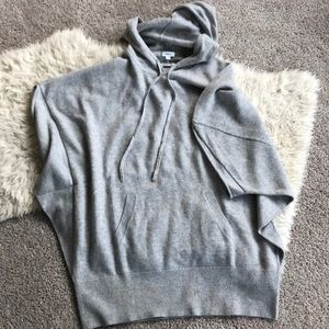 Vince Cashmere hooded sweater poncho